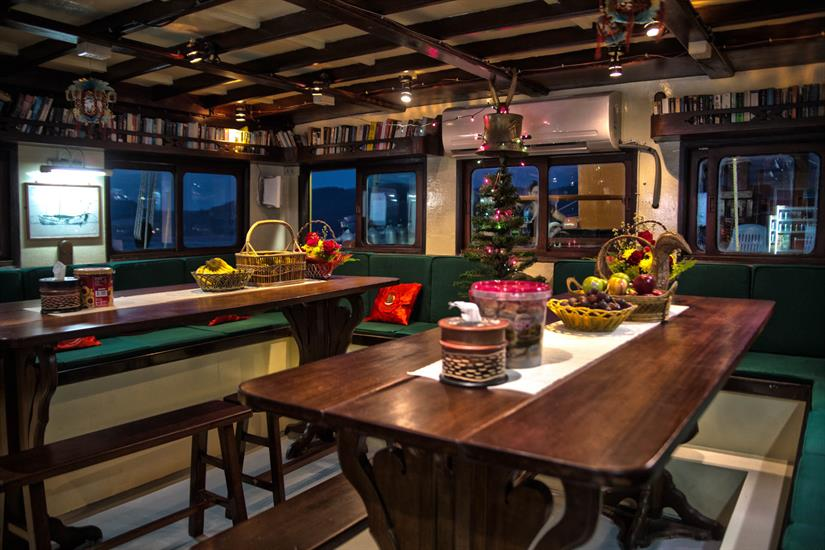 Dining and Bar Area - The Junk Liveaboard