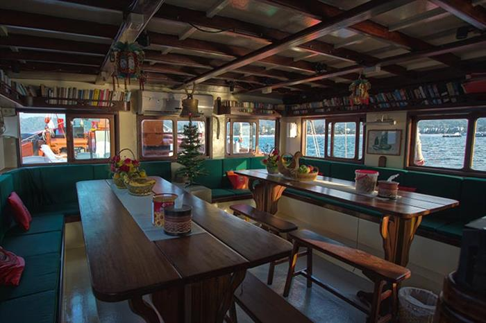 Indoor Dining Area - The Junk Liveaboard