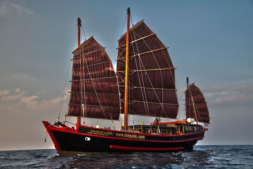 The Junk Liveaboard Full Sail Andaman Sea