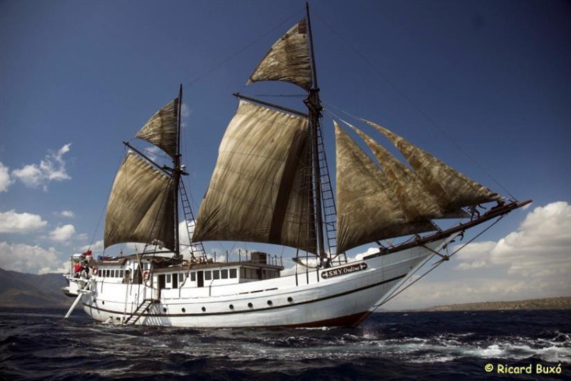 SMY Ondina at full sail