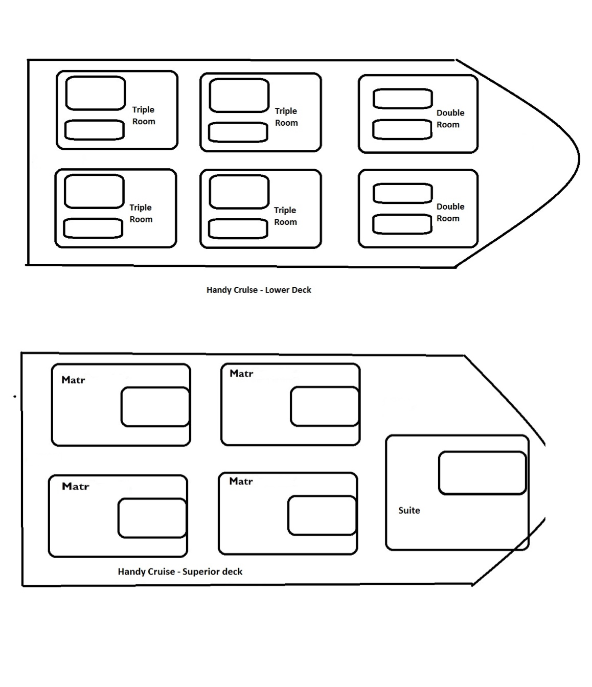 Princess Handy Deck Plan Grundriss