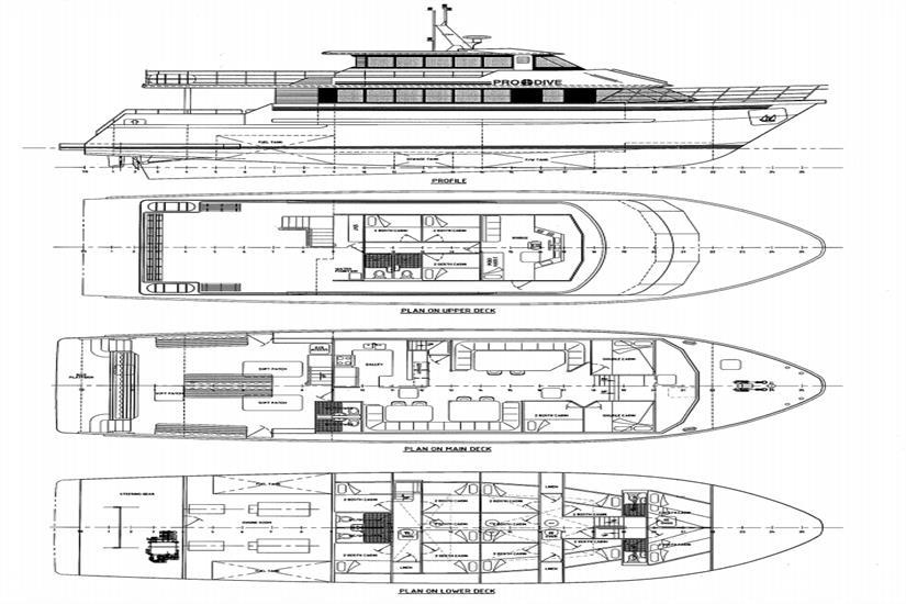 ScubaPro III Deck plan