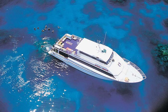 ScubaPro III liveaboard - Aerial view