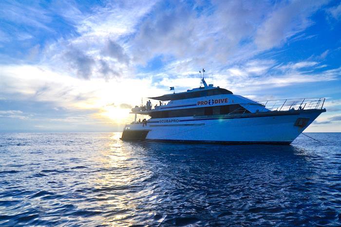 Sunset onboard ScubaPro III