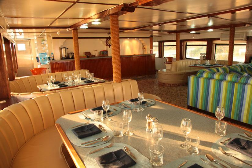 Indoor lounge and bar area - MV Valentina Mexico