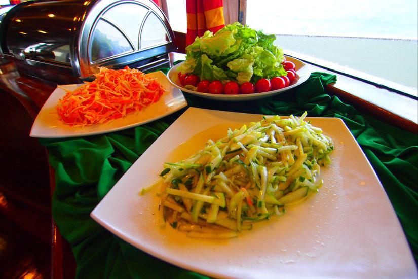 Fresh food prepared onboard Fun Azul