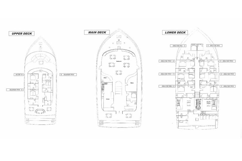 Fun Azul Deck Plan floorplan