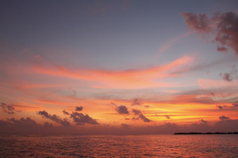 Enjoy spectacular sunsets onboard Fun Azul, Maldives