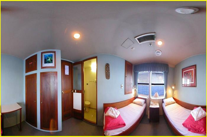 Ocean Quest Liveaboard Outer Barrier Reef Trin Cabin