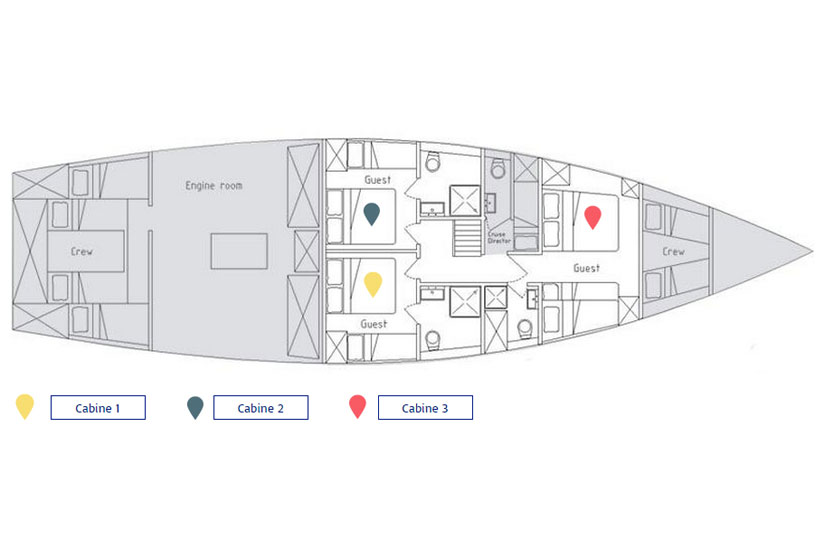 Manta Liveaboard Layout floorplan