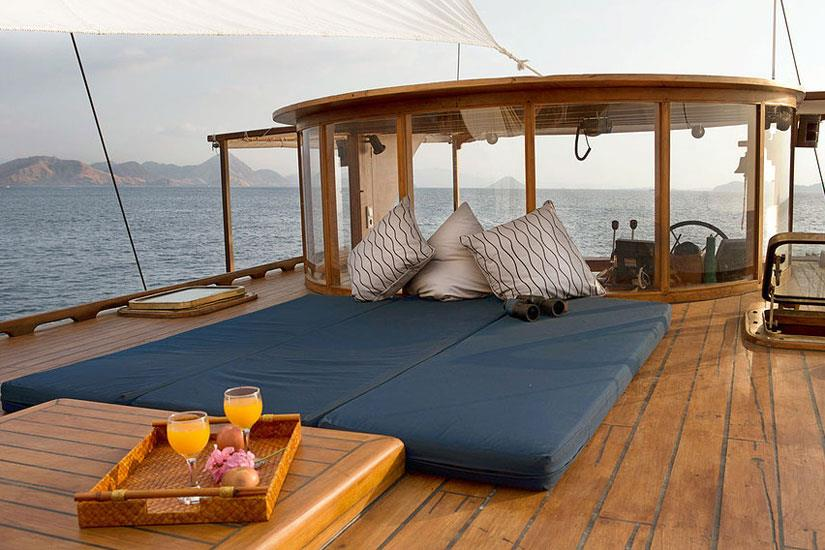 Sundeck relaxation aboard the Mantra Liveaboard Komodo