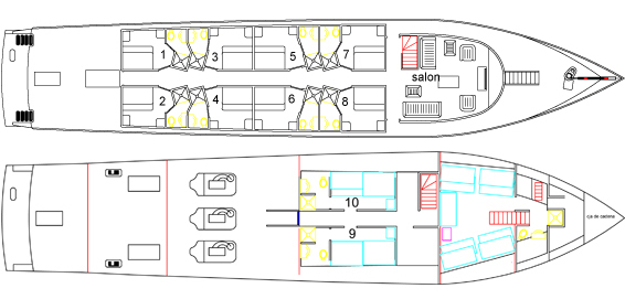 Deckplan floorplan
