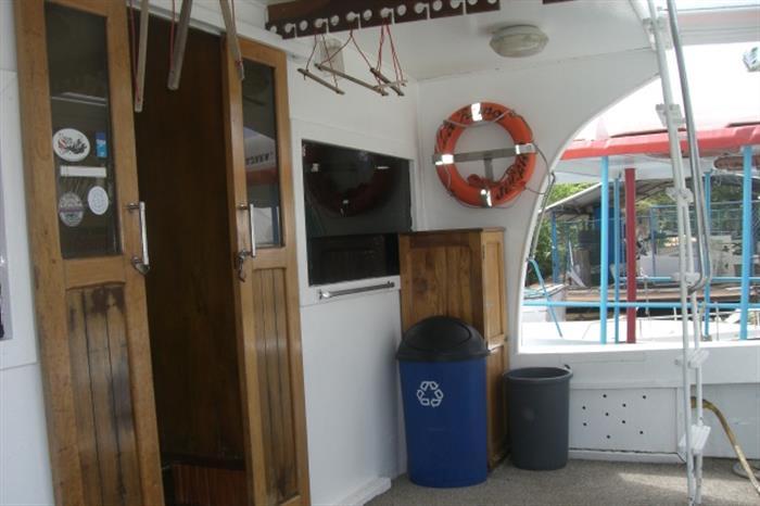 Deck area onboard La Reina