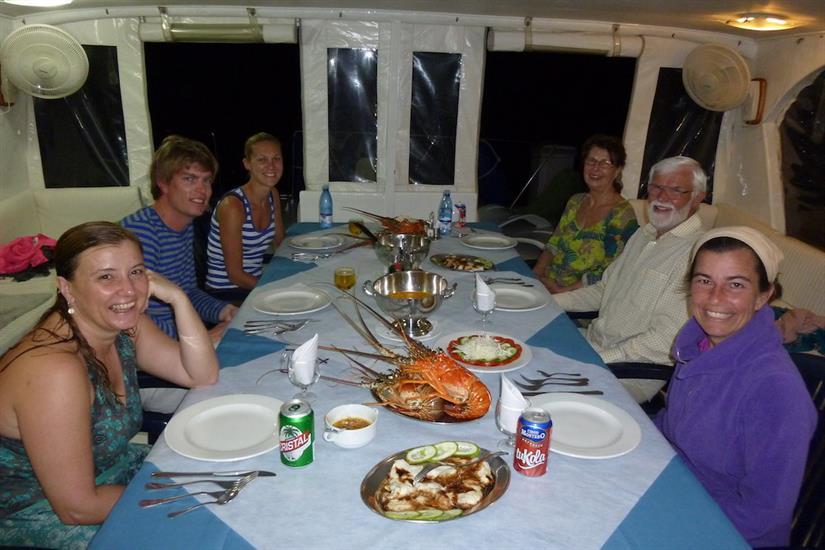 Social evening dinner onboard La Reina, Cuba