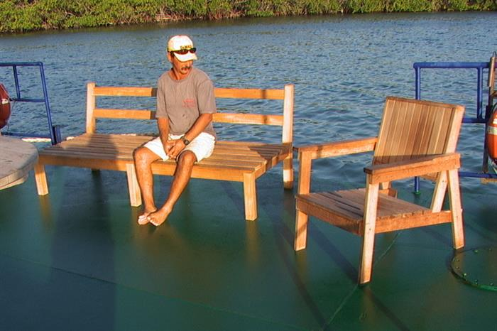 Leisure deck relaxation - Tortuga House Boat