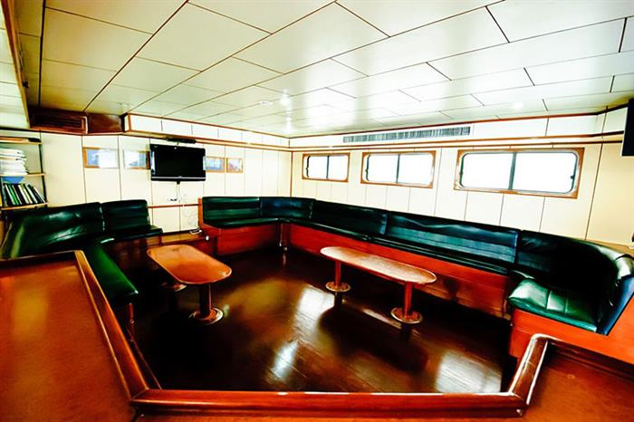 Indoor lounge area - Deep Andaman Queen