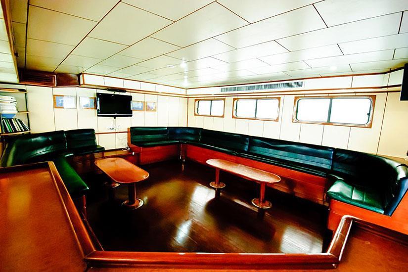 Indoor lounge area - Deep Andaman Queen