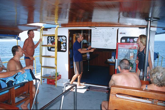 Dive Briefing aboard the MV Marco Polo Liveaboard Thailand