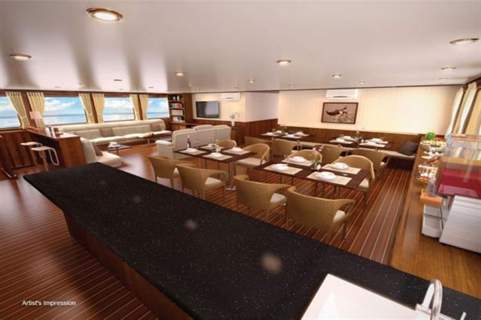 Blue Manta Liveaboard Indoor Dining