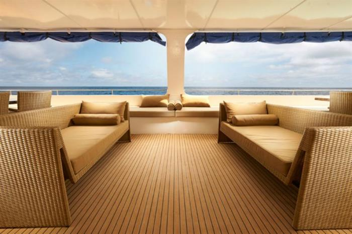Blue Manta Liveaboard Outdoor Lounge