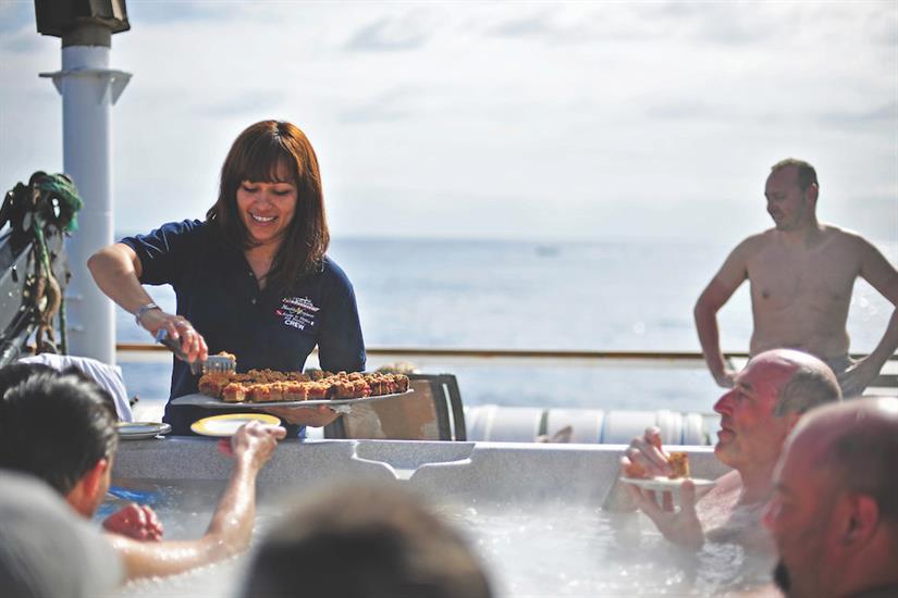 Hot Tub on sun deck - Nautilus Explorer