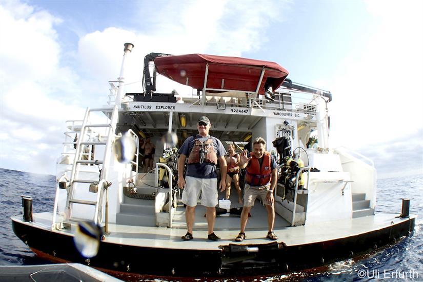 Dive deck/platform - Nautilus Explorer