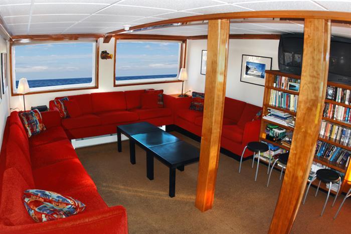 Lounge area onboard Nautilus Explorer