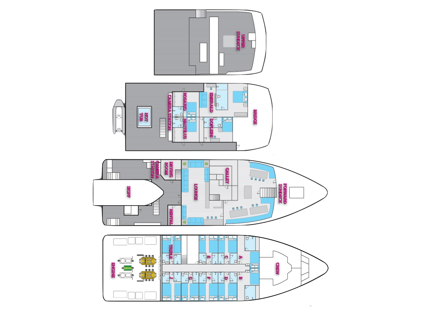 Nautilus Explorer Deck Plan floorplan