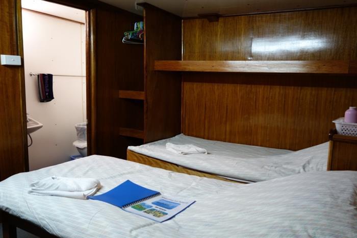 Cabin onboard Bilikiki Liveaboard