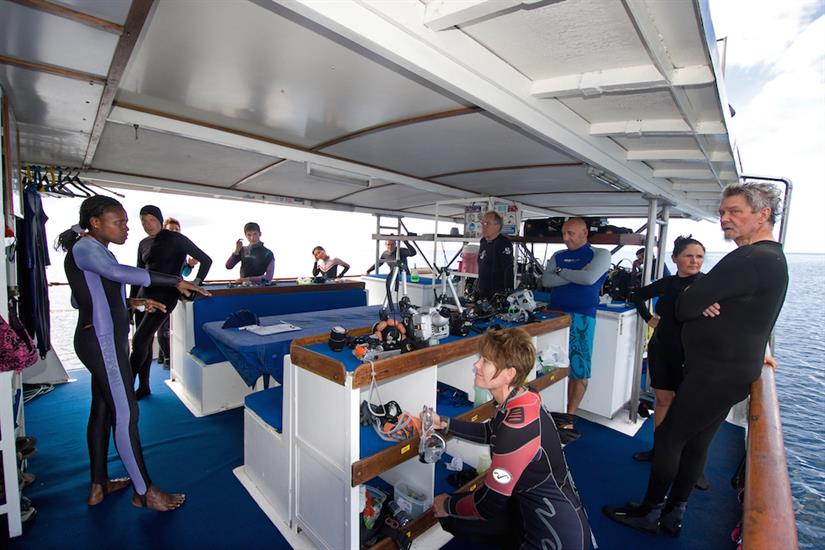 Dive deck area - Febrina