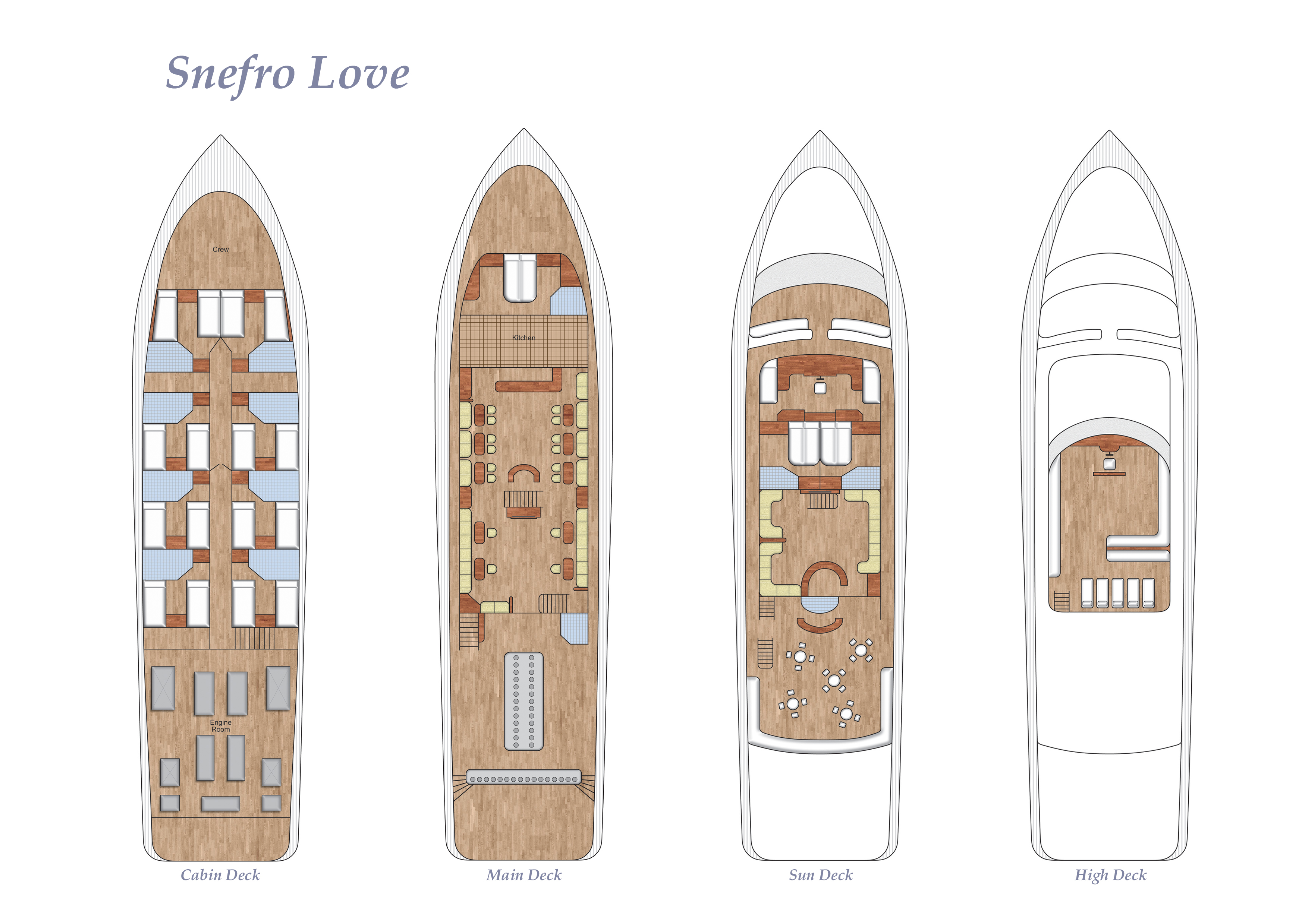 Deck Plan - Snefro Love floorplan