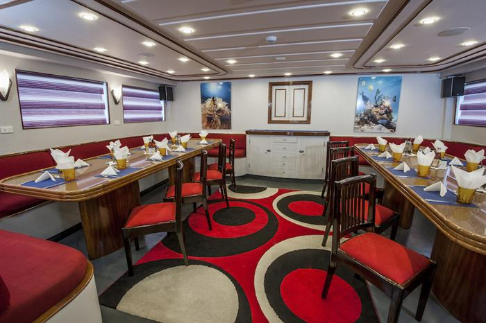 Indoor Dining Area - Red Sea Adventurer