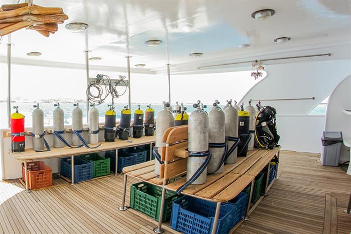 Dive deck - Red Sea Adventurer liveaboard