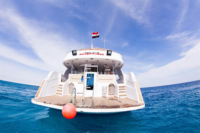 Dive platform at rear of Red Sea Adventurer