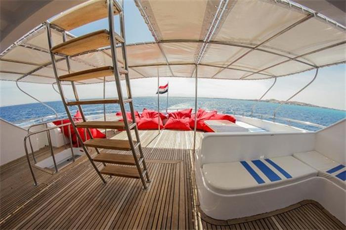 Spacious sundeck onboard Red Sea Adventurer