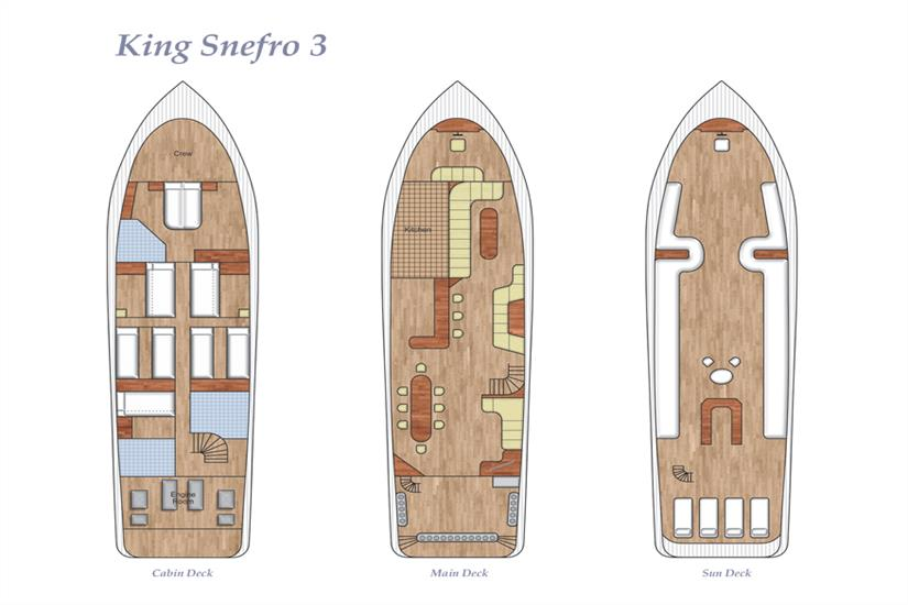 King Snefro 3 Deck Plan