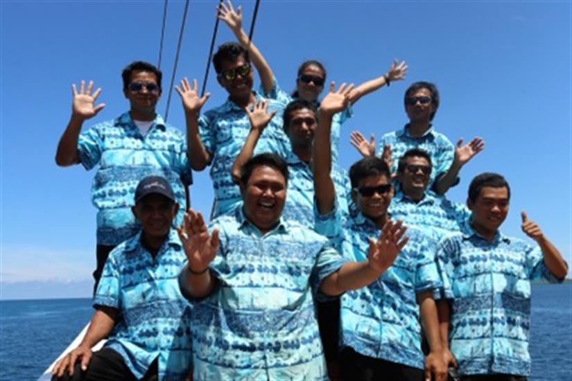 The Crew aboard the MatahariKu Indonesia