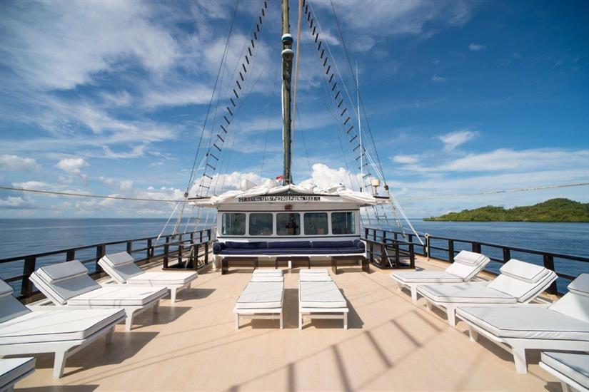 Spacious Sun Deck aboard the Dewi Nusantara Liveaboard