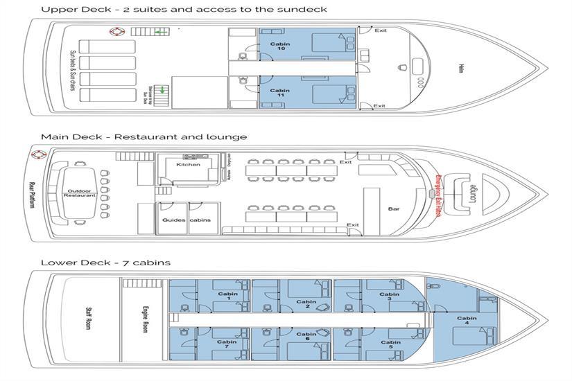 Manta Cruise Deck Plan