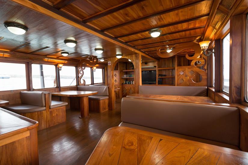 Our comfortable air-con saloon