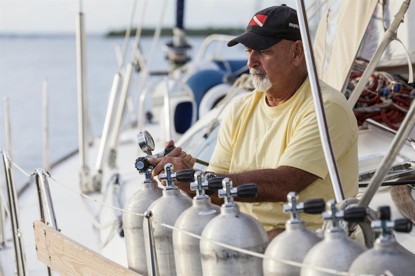 Diving aboard Vision III Cuba
