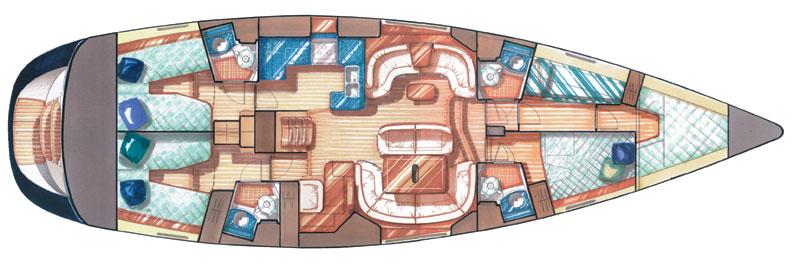 Vision III Liveaboard Cuba Layout floorplan