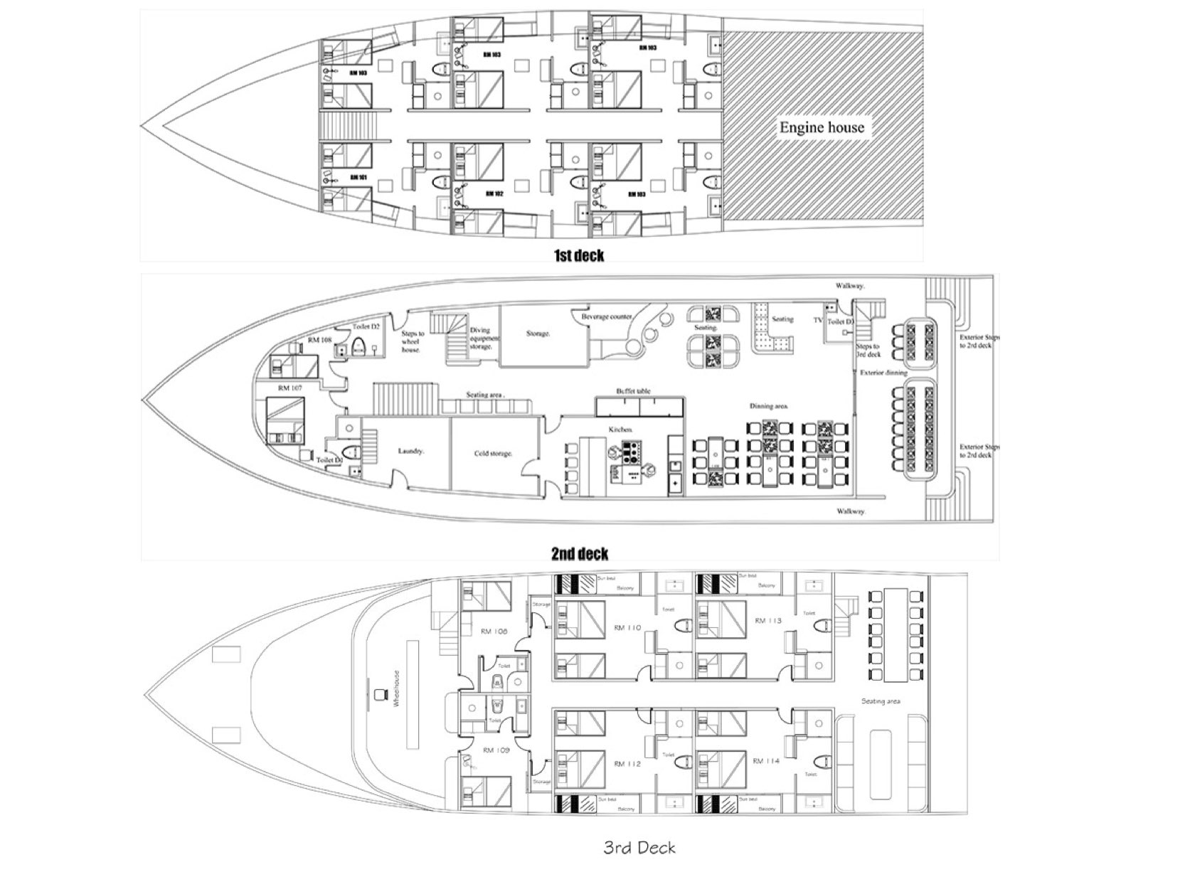 Adora Liveaboard Deck Plan floorplan
