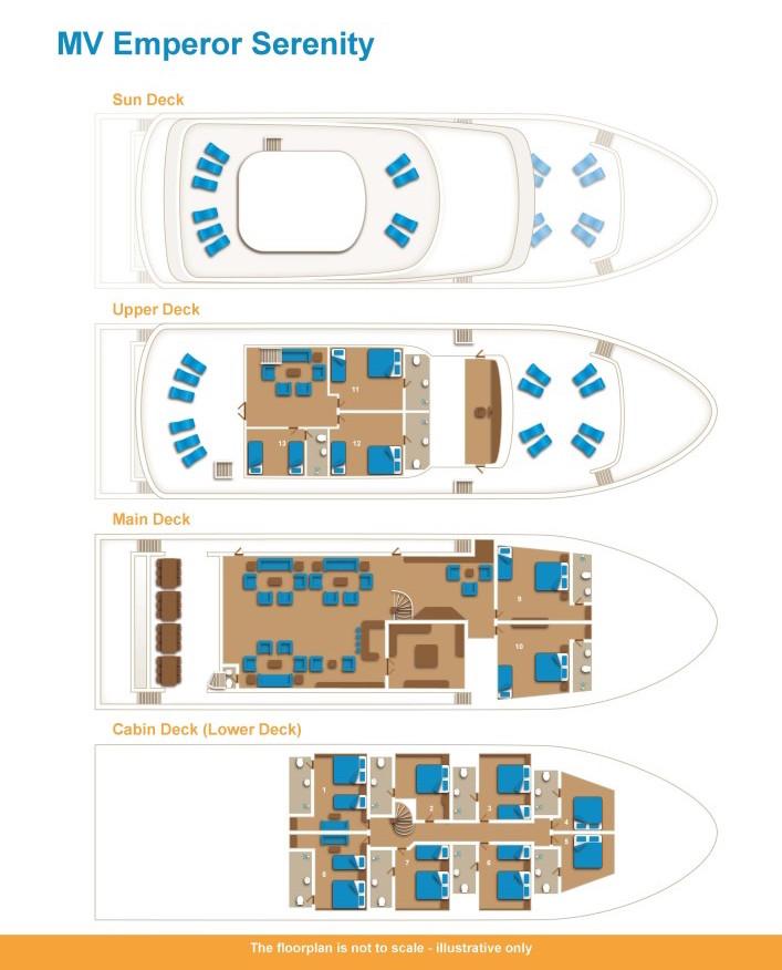 Emperor Serenity Deck Plan floorplan