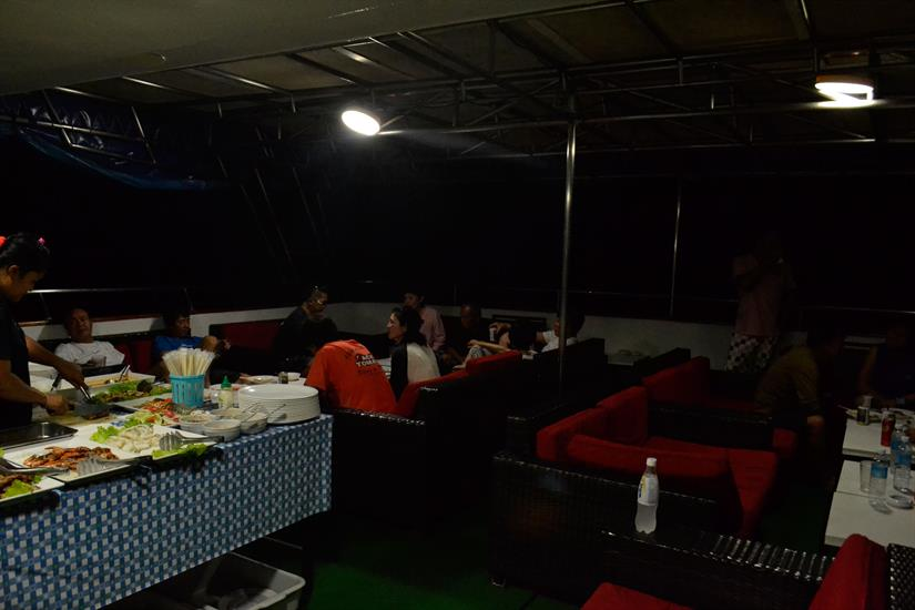 Last night of the cruise BBQ party onboard MV Scuba Explorer
