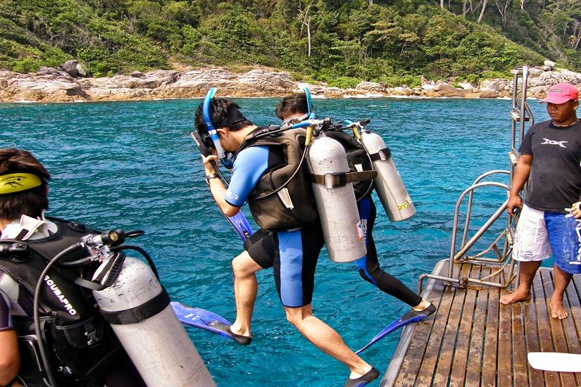 Dive Deck aboard the MV Scuba Explorer Dive Liveaboard Thailand