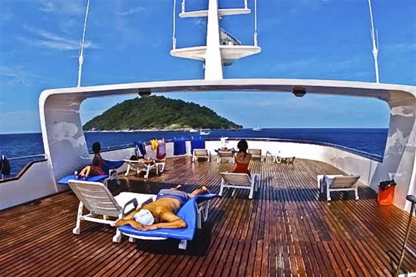 Sundeck aboard Scuba Explorer Liveaboard Thailand