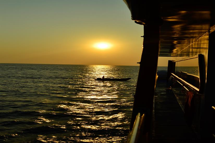 Sunset from the Scuba Explorer Dive Liveaboard Thailand