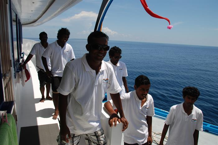 Crew aboard the Soleil 2 Liveaboard