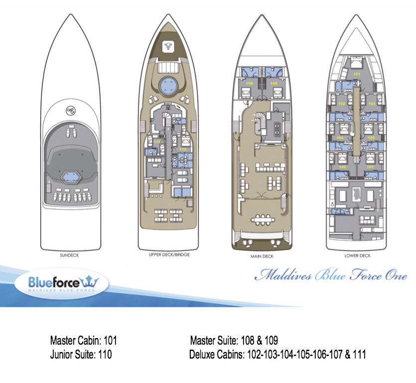 Blue Force 1 Deck Plan floorplan